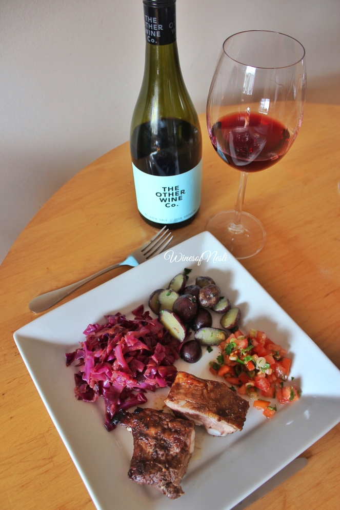 australian grenache and pork ribs