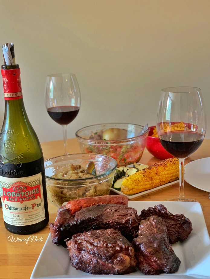 chateauneuf du pape and barbaque