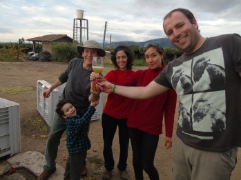 The PO' Wine Project team, photo provided by Jose Javier Echandi.
